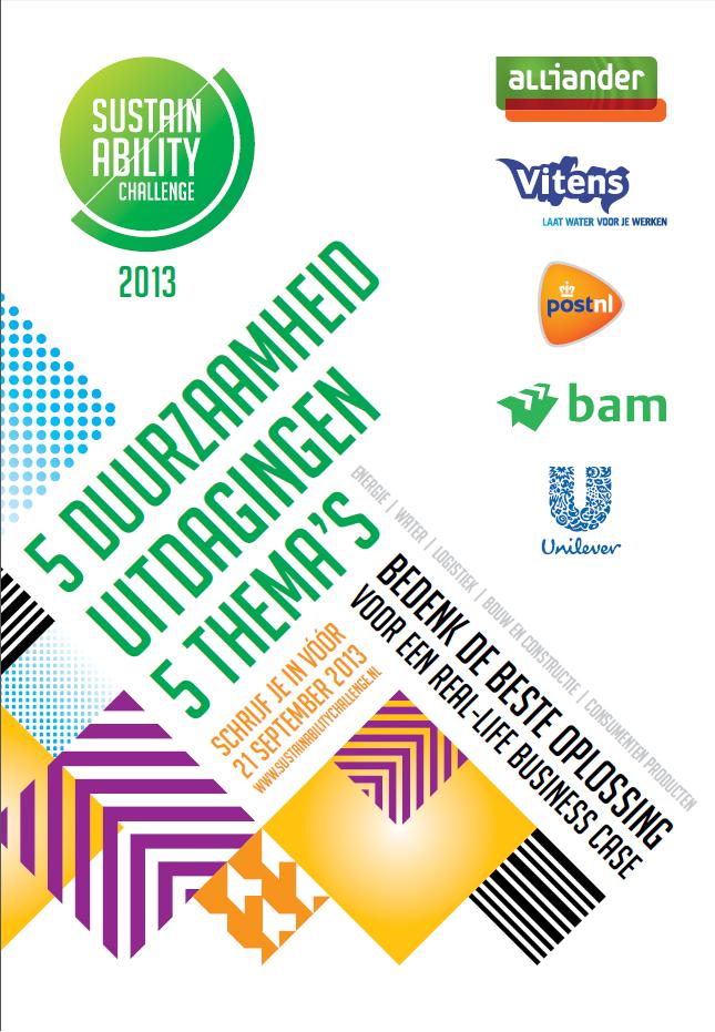 Sustainability Challenge 2013! 5 Top Bedrijven, 5 Thema's, 5 Uitdagingen – Zij Vragen JOU Om Advies!