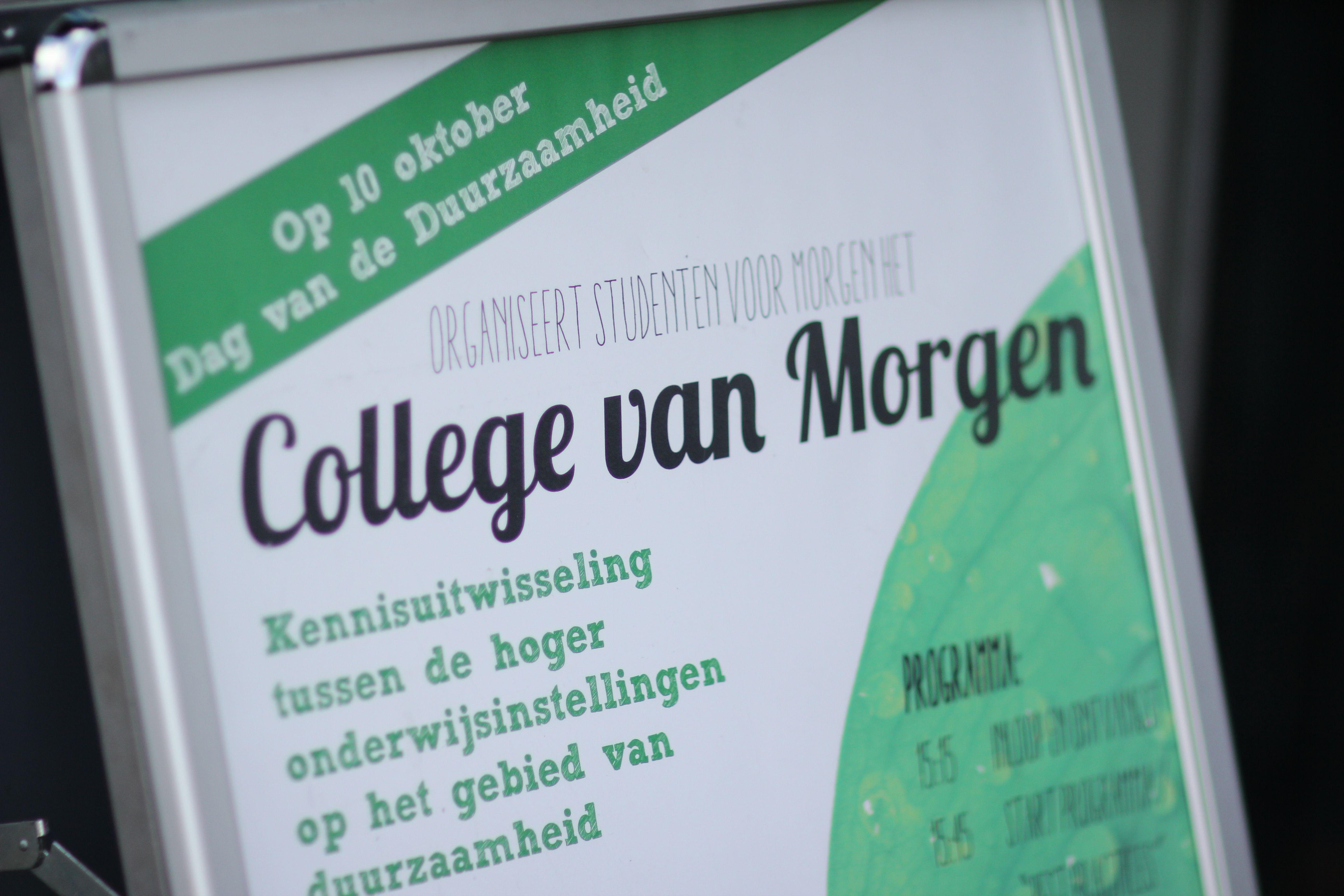 College Van Morgen Enorm Succes!