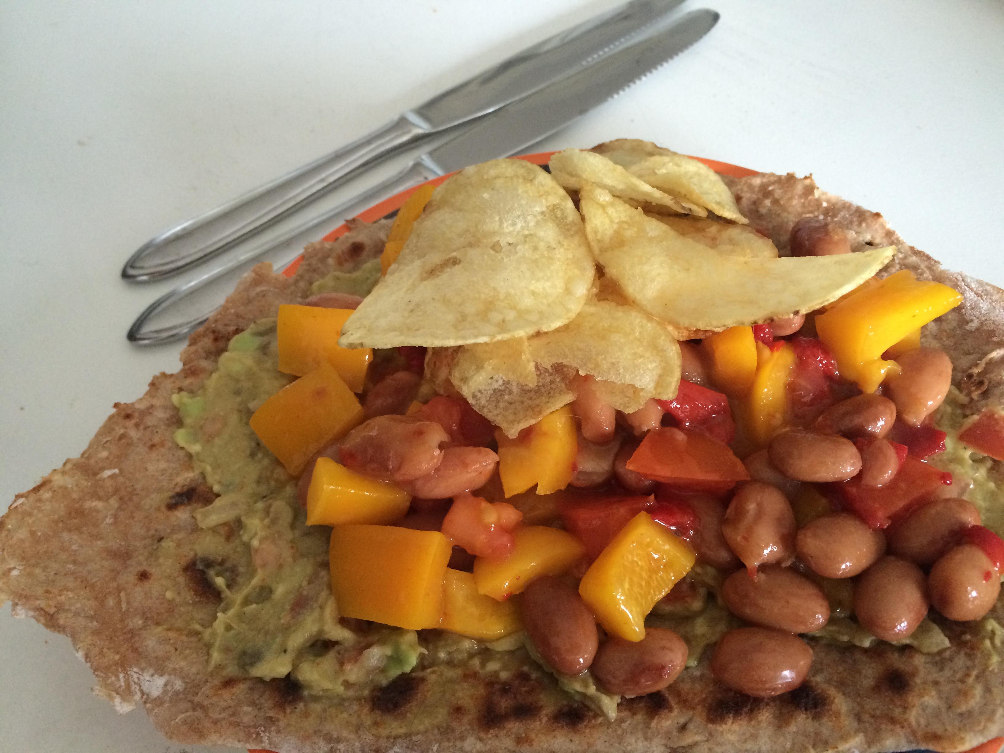 Zelfgemaakte Wraps Met Guacamole