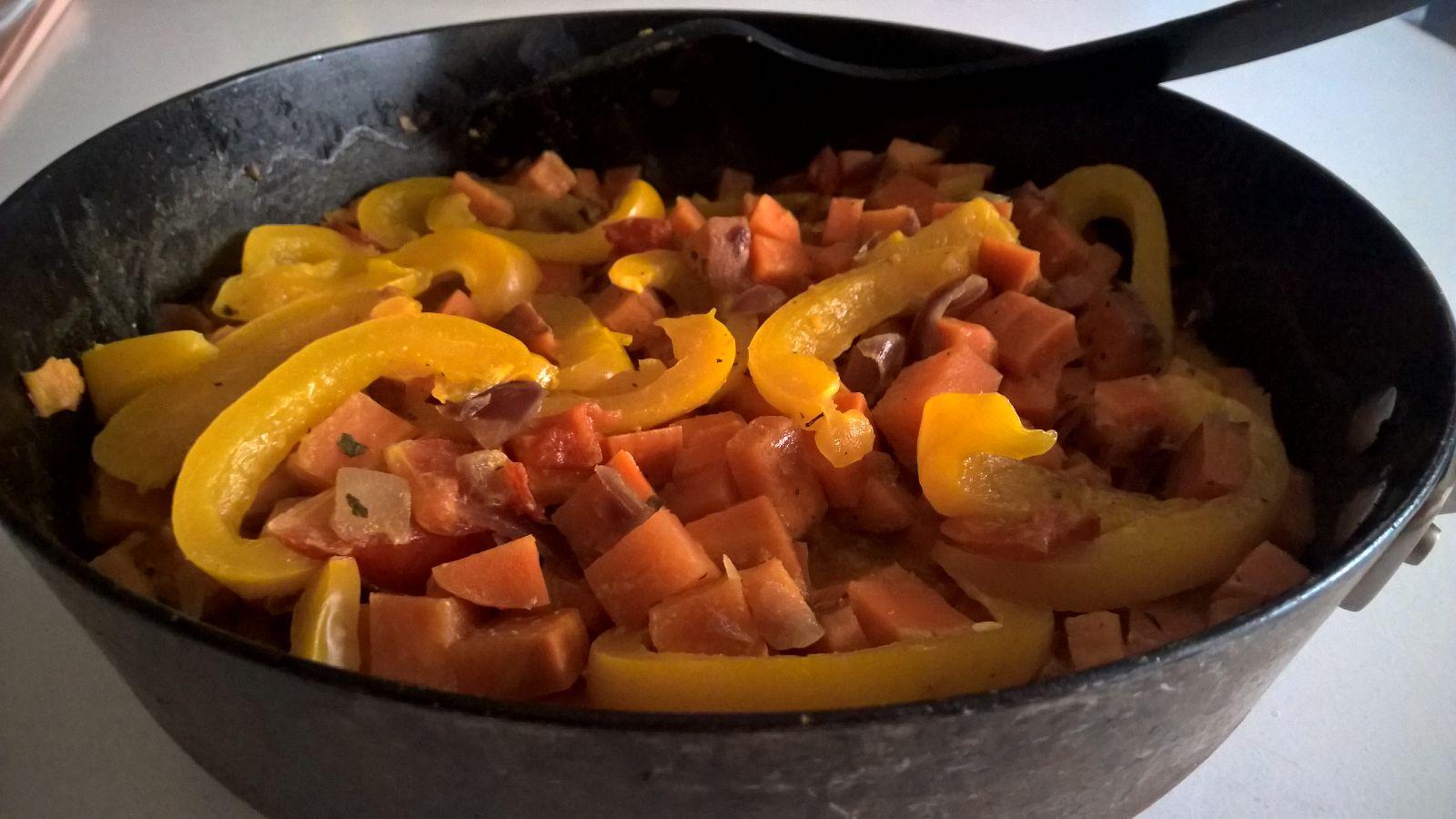 Zoete Aardappel-wortel Curry
