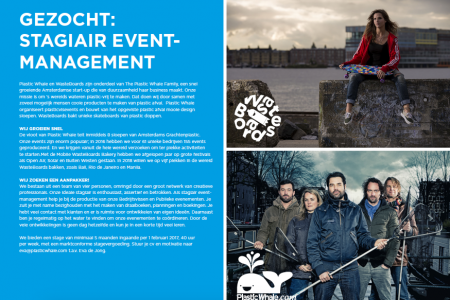 Plastic Whale zoekt stagiair event-management