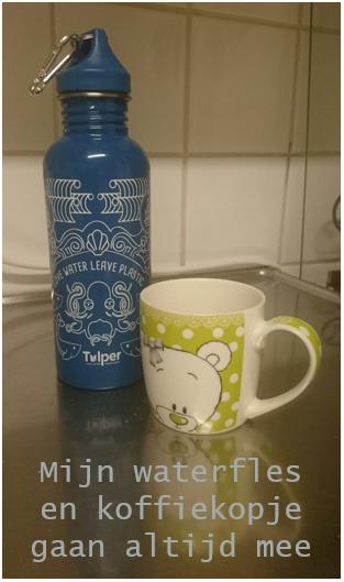 waterfles koffiekop